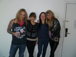 With Michael Starr and Lexxi Foxxx (Steel Panther) at Radisson Copenhagen 2012